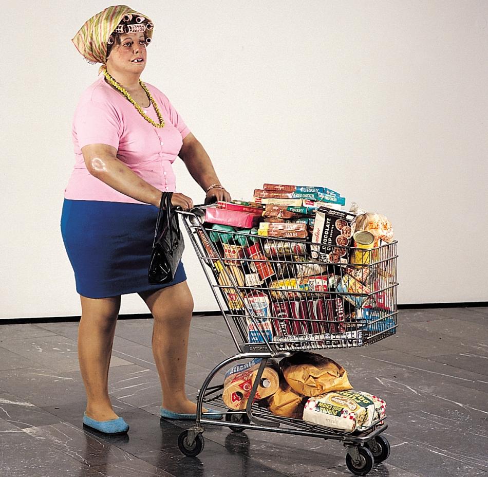 supermarket lady duane hanson